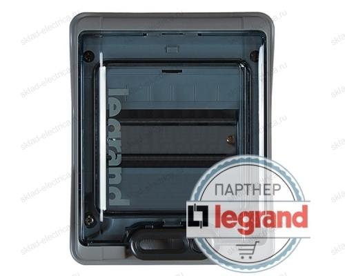 Бокс Legrand Plexo IP65 накладной на 6 модулей с шинами N+PE с прозрачной дверью