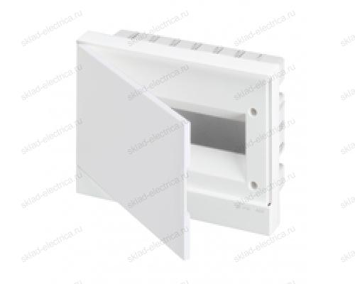 Щит АВВ распределительный встраиваемый 12 мод. пластиковый белая дверца (с клеммными блоками)