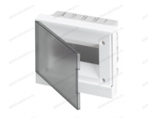 Щит АВВ распределительный встраиваемый 8 мод. пластиковый дымчатая дверца (с клеммными блоками)