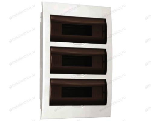 Бокс пластиковый встраиваемый IEK ЩРВ-П на 36 (3х12) модулей с прозрачной дверкой