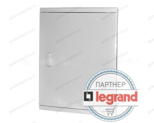 Щит Legrand Nedbox в нишу на 24 (+4) модуля (2х12) с шинами N+PE с белой дверью