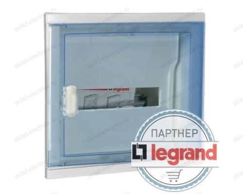 Щит Legrand Nedbox в нишу на 12 (+2) модулей (1х12) с шинами N+PE с прозрачной дверью