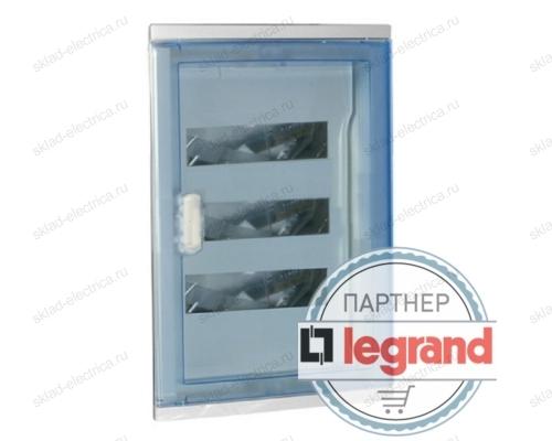 Щит Legrand Nedbox в нишу на 36 (+6) модулей (3х12) с шинами N+PE с прозрачной дверью