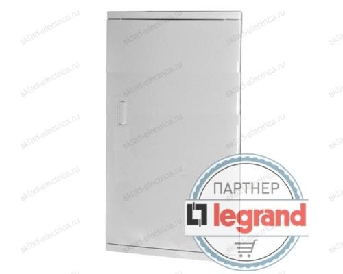 Щит Legrand Nedbox в нишу на 48 (+8) модулей (4х12) с шинами N+PE с белой дверью