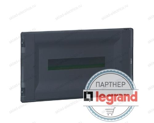 Распределительный щиток Legrand Practibox3 в нишу на 8 модулей с клеммником PE, прозрачная дверь