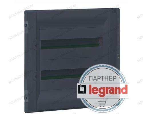 Распределительный щиток Legrand Practibox3 в нишу на 12 модулей с клеммником PE, прозрачная дверь