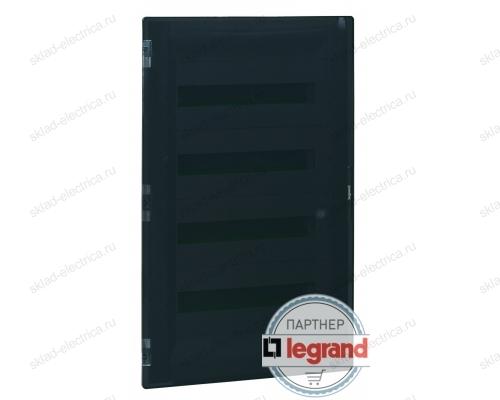 Распределительный щиток Legrand Practibox3 в нишу на 3x12 модулей с клеммником PE, прозрачная дверь