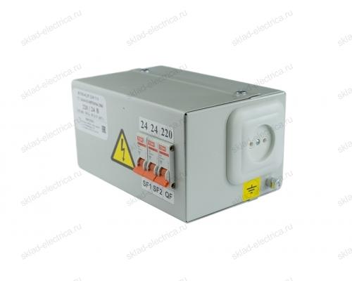 Ящик с понижающим трансформатором ЯТП 220В / 12В 250Вт IP30 с автоматами