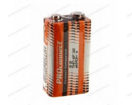 """Солевая батарейка КРОНА 9V 6F22 """"Крона"""" PROconnect 30-0030"""