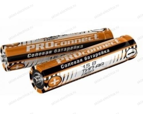 Солевая батарейка Proconnect АА (R6P) 30-0010