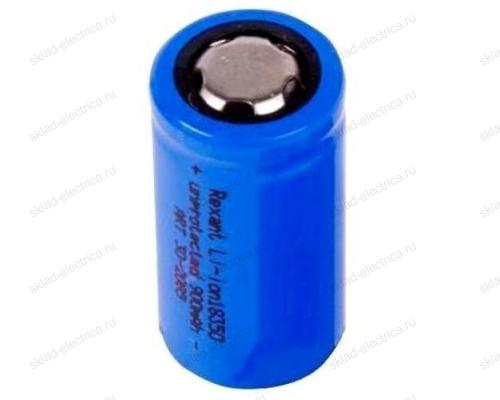 Аккумулятор Rexant Li-ion 18350 unprotected 900 mAH 3.7 В 30-2085