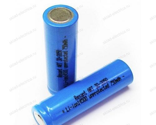 Аккумулятор Rexant Li-ion 14500 unprotected 750 mAH 3.7 В 30-2050