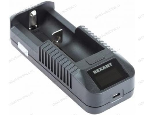 Универсальное зарядное устройство для 1 АКБ с жк дисплеем Rexant i1 18-2241