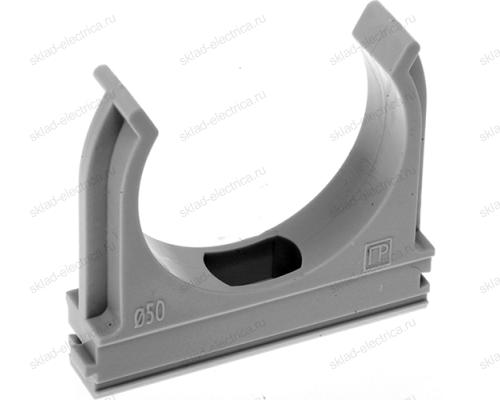 Крепеж-клипса для пластиковых труб серая диаметр 16 мм