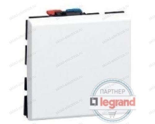 Выключатель Mosaic белый 10АХ (2 модуля) Legrand 77010