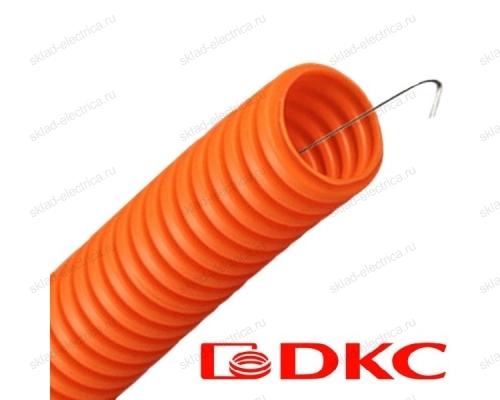 Труба гофрированная ПНД с протяжкой оранжевая 16 мм DKC 71916