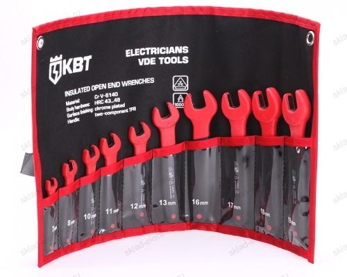 Набор однорожковых диэлектрических ключей, 10 штук НИИ-10 (КВТ)
