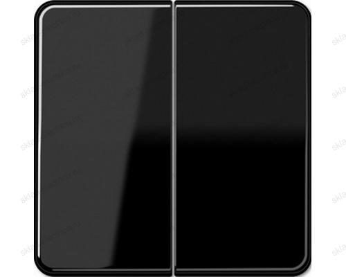 Выключатель двухклавишный Jung CD500 505U+CD595SW цвет черный