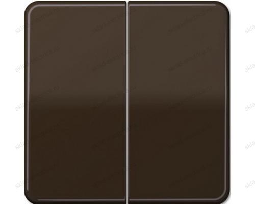 Выключатель двухклавишный Jung CD500 505U+CD595BR цвет коричневый