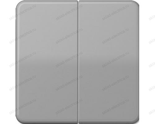 Выключатель двухклавишный Jung CD500 505U+CD595GR цвет серый