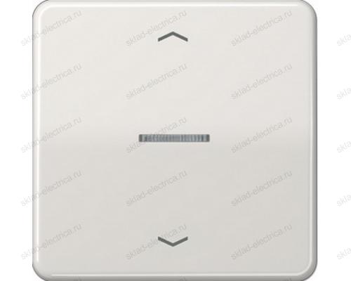 Выключатель жалюзи клавишный стандарт Jung CD500 230ME+CD5232LG цвет светло серый