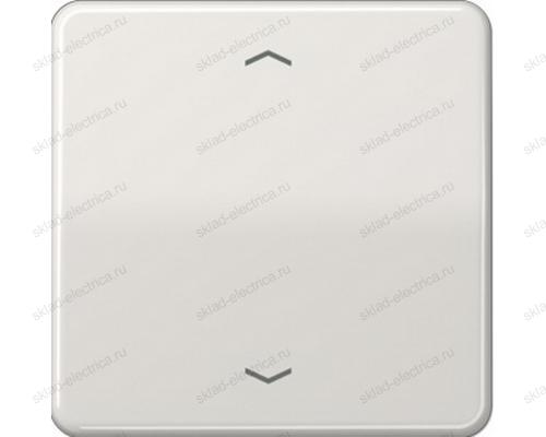 Выключатель жалюзи клавишный с памятью Jung CD500 230ME+CD5232MSLG цвет светло серый