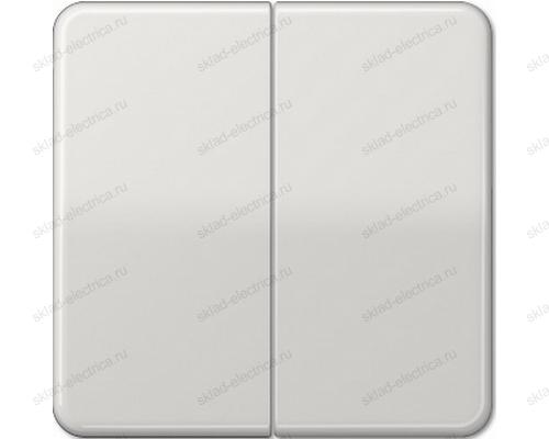 Выключатель двухклавишный Jung CD500 505U+CD595LG цвет светло серый