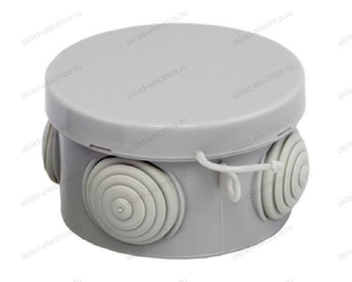 Коробка распределительная круглая 85х40 мм серая IP55