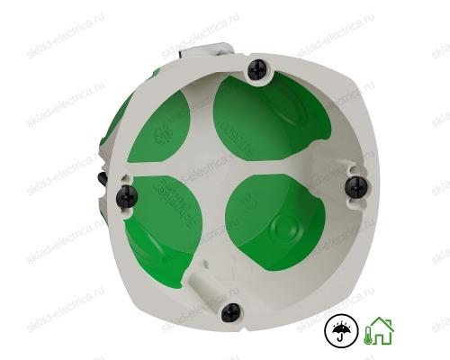 Коробка монтажная одинарная герметичная IP40, энергосберегающая, подрозетник глубина 40 мм Multifix Schneider Electric