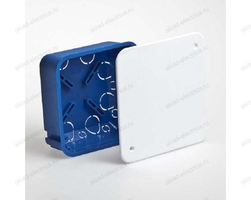 Коробка распределительная 100х100х45 с крышкой в бетон RUVinil 10160