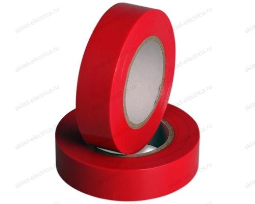 Изолента ПВХ 15мм красная