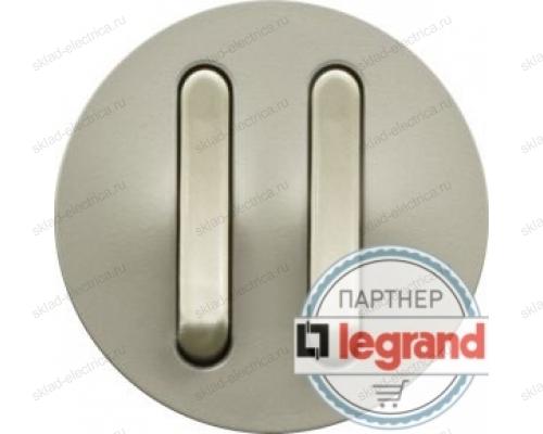 Выключатель бесшумный двойной Legrand Celiane 6А (титан) 68318 - 67013 - 67013 - 80251