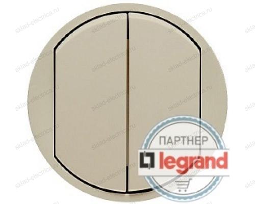Выключатель двухклавишный Legrand Celiane 10А (слоновая кость) 66201 - 67002 - 67002 - 80251