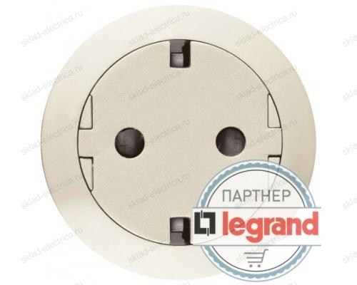 Розетка с заземлением с плоской лицевой панелью Legrand Celiane, безвинтовой зажим (слоновая кость) 67169 - 80251