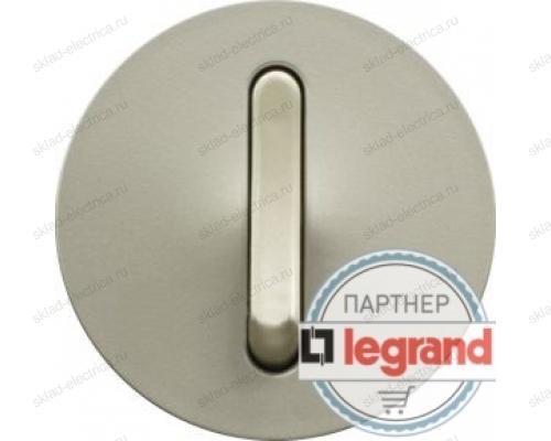 Выключатель кнопочный бесшумный Legrand Celiane 10А (титан) 68317 - 67033 - 80251