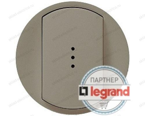 Выключатель одноклавишный (универсальный) с подсветкой Legrand Celiane 10А (титан) 68303 - 67686 - 67001 - 80251