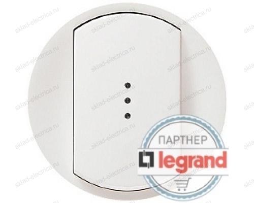 Выключатель одноклавишный (универсальный) с подсветкой Legrand Celiane 10А (белый) 68003 - 67686 - 67001 - 80251