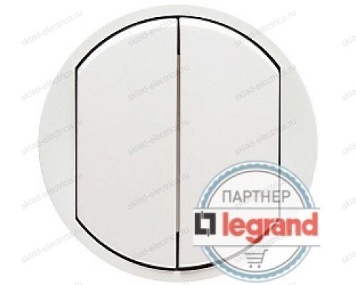 Выключатель двухклавишный Legrand Celiane 10А (белый) 68002 - 67002 - 67002 - 80251