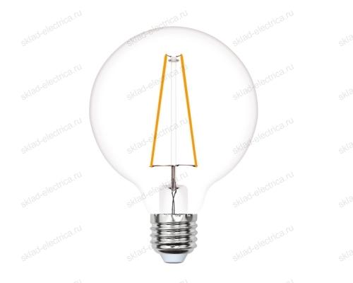 LED-G80-4W-GOLDEN-E27 GLV21GO Лампа светодиодная Vintage. Форма шар. золотистая колба. Картон. ТМ Uniel
