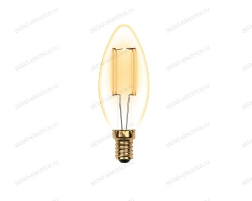 LED-C35-5W-GOLDEN-E14 GLV21GO Лампа светодиодная Vintage. Форма свеча. золотистая колба. Картон. ТМ Uniel