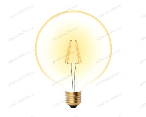 LED-G125-8W-GOLDEN-E27 GLV21GO Лампа светодиодная Vintage. Форма шар. золотистая колба. Картон. ТМ Uniel