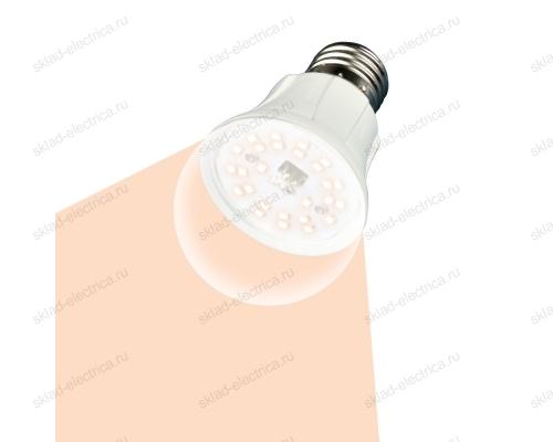 LED-A60-10W-SPFR-E27-CL PLP01WH Лампа светодиодная для растений. Форма A. прозрачная колба. Картон. ТМ Uniel