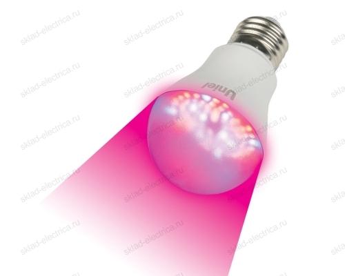 ALM01WH Лампа светодиодная для растений. Форма A. прозрачная колба. Материал корпуса пластик.