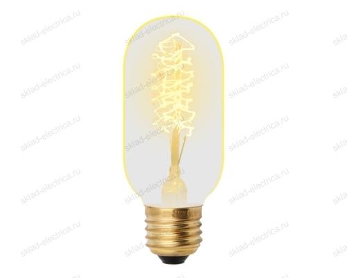 IL-V-L45A-40-GOLDEN-E27 CW01 Лампа накаливания Vintage. Форма цилиндр. длина 113 мм. Форма нити CW. Картон. ТМ Uniel