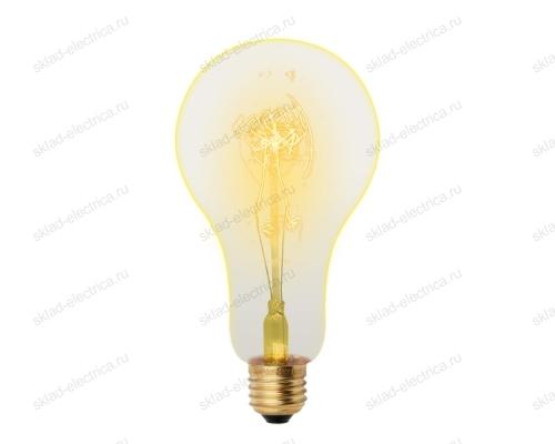 IL-V-A95-60-GOLDEN-E27 SW01 Лампа накаливания Vintage. Форма A. Форма нити SW. Картон. ТМ Uniel