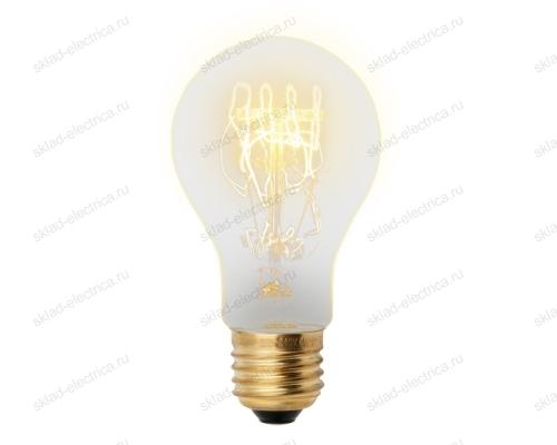 IL-V-A60-60-GOLDEN-E27 SW01 Лампа накаливания Vintage. Форма A. Форма нити SW. Картон. ТМ Uniel