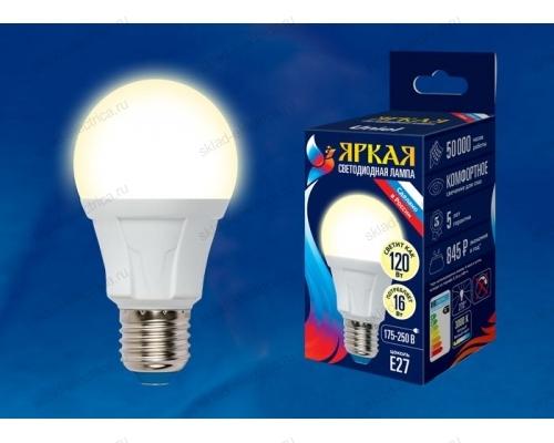 LED-A60 16W/3000K/E27/FR PLP01WH картон