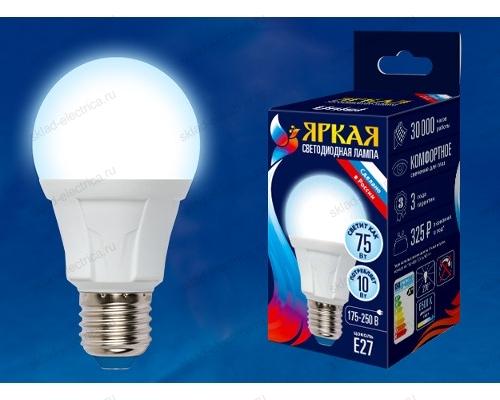 LED-A60 10W/DW/E27/FR PLP01WH картон