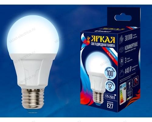 LED-A60 12W/DW/E27/FR PLP01WH картон