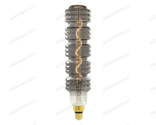 LED-SF41 Лампа светодиодная SOHO. Хромированная-дымчатая колба. Спиральный филамент.